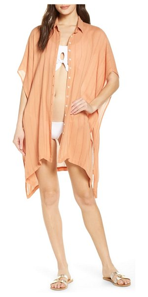 L*SPACE anita cover-up shirtdress in beige