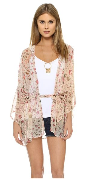 L*SPACE Liberty cover up in cream - A rich floral print lends a luxe feel to this chiffon...