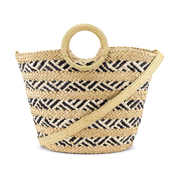 L*SPACE nessa straw bag in natural