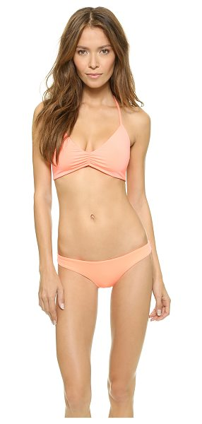 L*SPACE Strap back bikini top in electric coral - Three spaghetti straps form the back of this L*Space...