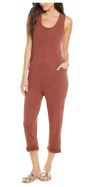 L*SPACE tropicalia cover-up jumpsuit in brown