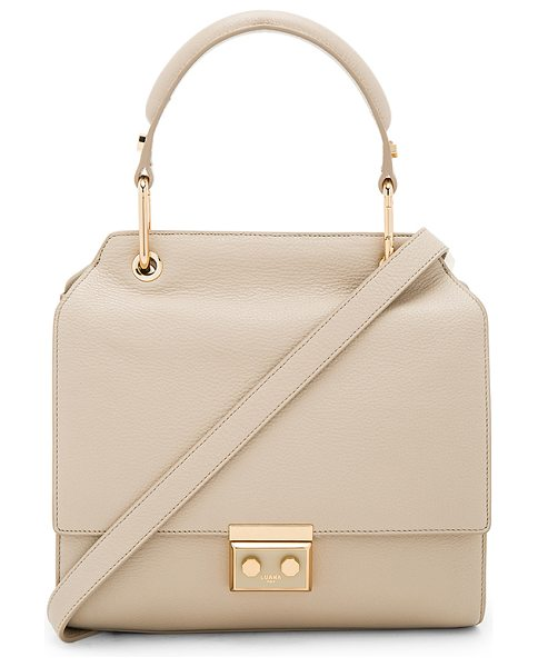 LUANA ITALY Ariana Satchel - Leather exterior with nylon fabric lining. Flap top with...