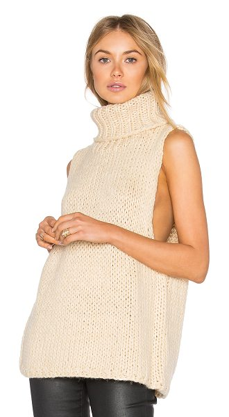 Lucca Couture Mara Sweater Vest in beige - 80% acrylic 20% wool. Hand wash cold. LUCC-WK32....
