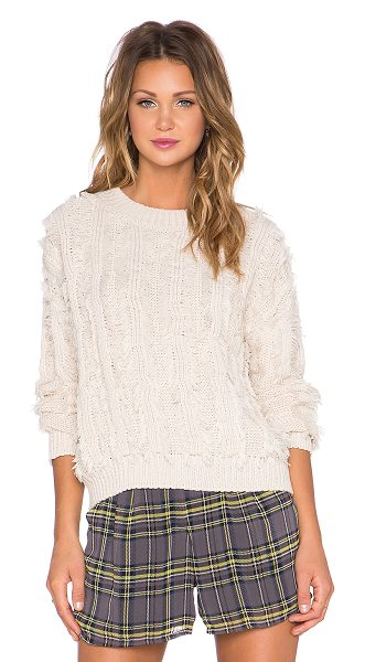 Lucca Couture Sweater in beige - 100% acrylic. Hand wash cold. Ribbed trim. LUCC-WK26. J...