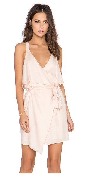 Lucca Couture X revolve ruffle front wrap dress in blush - Rayon blend. Hand wash cold. Fully lined. Wrap front...