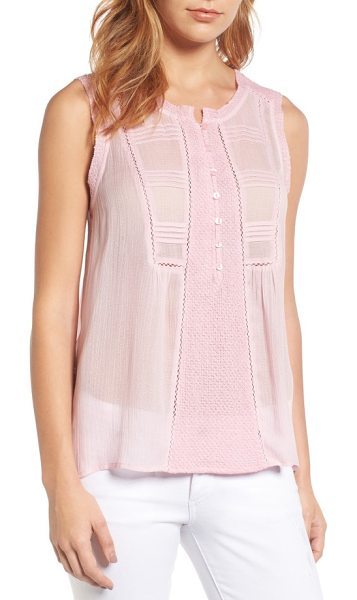 Lucky Brand audrey tank in pink - A mix of delicately pretty textures and details,...
