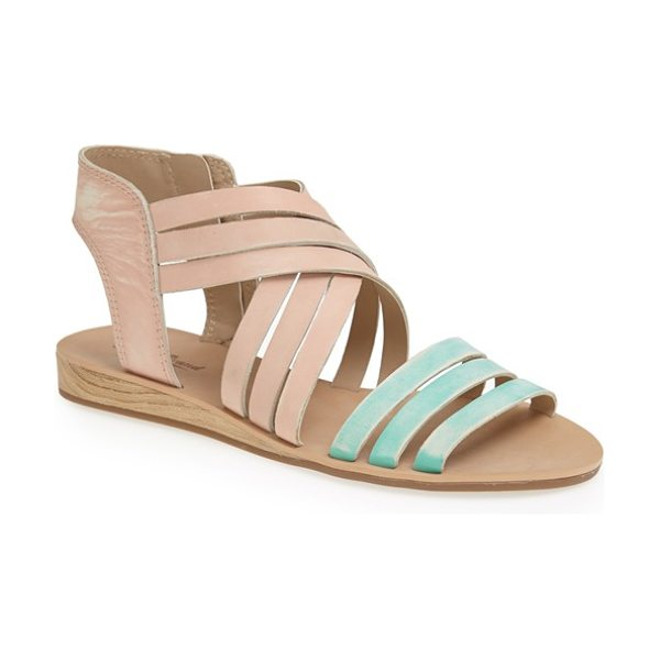 Lucky Brand jessicah sandal in blush/ dusty jade - A subtly worn finish and slim, wood-look wedge extend...