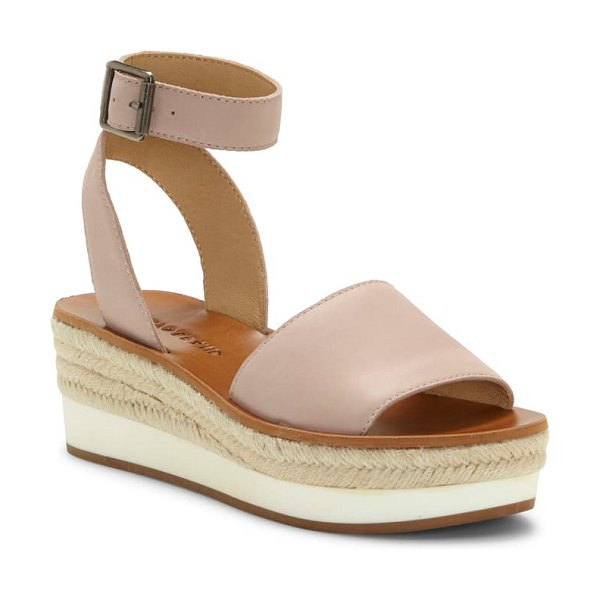Lucky Brand joodith platform wedge sandal in pink
