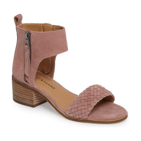 Lucky Brand nichele braided sandal in baroque rose suede