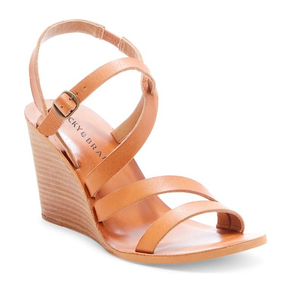 Lucky Brand noemia wedge sandal in brown