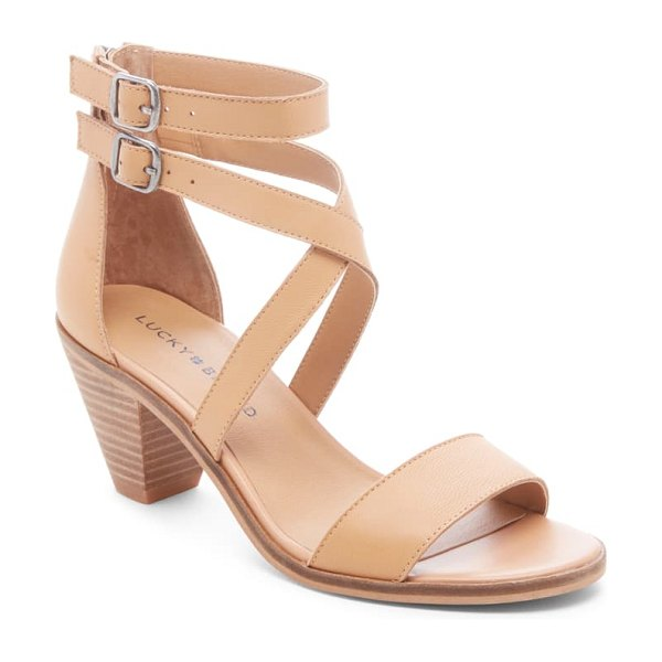 Lucky Brand ressia double ankle strap sandal in brown