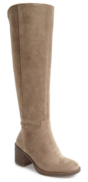 Lucky Brand ritten tall boot in brindle suede - A streamlined silhouette elongates your leg as you step...