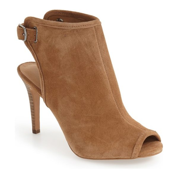 Lucky Brand sezzah peep toe sandal in honey suede - Lush suede defines the clean curves of a sophisticated...
