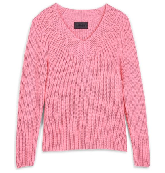 Lucky Brand v-neck sweater in pink