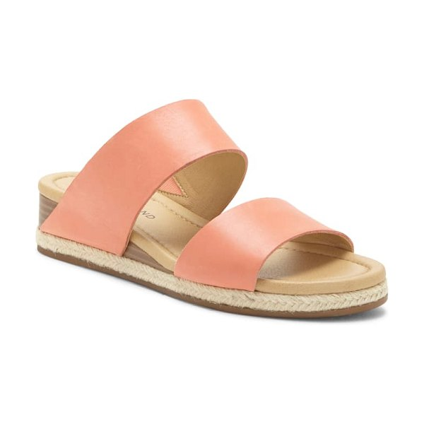 Lucky Brand wyntor slide sandal in coral