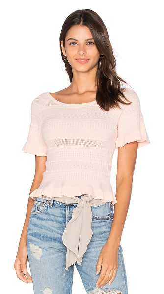 Lucy Paris Trip Knit Top in blush - 73.6% viscose 26.4% polyamide. Dry clean only. Ribbed...