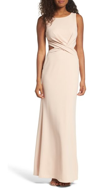 LULUS cutout mermaid gown - Small cutouts show a touch of skin as they grace the...