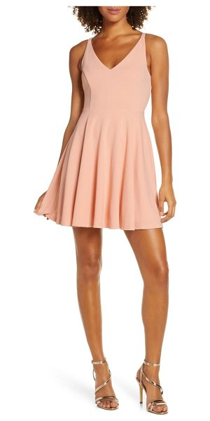 Lulus darling delight skater dress in pink