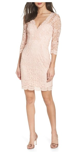 Lulus lace cocktail dress in pink