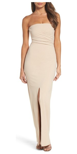 Lulus own the night strapless maxi dress in nude - This sophisticated strapless gown is designed with a...