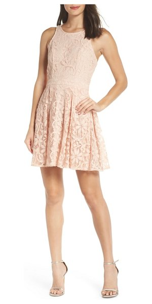 Lulus racerback lace party dress in pink - A combination of vintage and verve makes this lace dress...