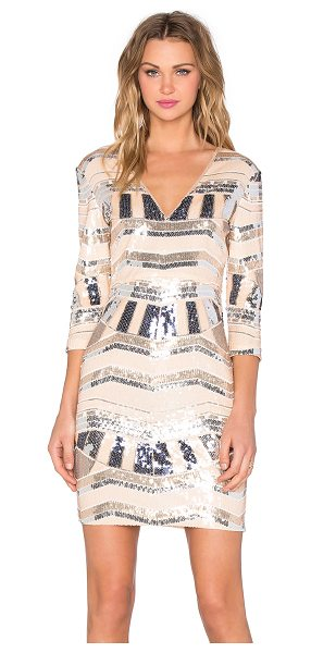 LUMIER Rise of Dawn Sequin Mini Dress - Poly blend. Hand wash cold. Fully lined. Sequined...