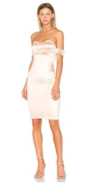 "Lurelly Solo Dress in tan - ""80% acetate 20% viscose. Dry clean only. Partially..."