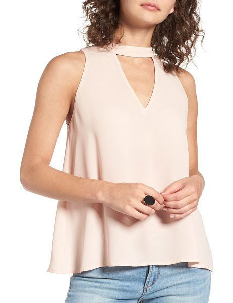 Lush choker swing tank in cameo rose - Tap into current fashion trends with this swingy tank...