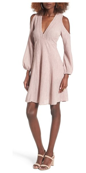 Lush cold shoulder dress in dusty rose - Get your flirt on in this Empire-waist dress that's sure...