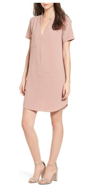 Lush hailey crepe dress in pink adobe - When you want to look stylish fast, reach for this...