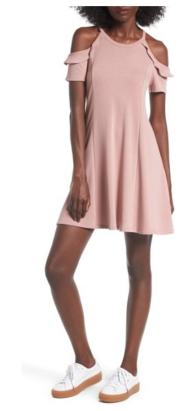 LUSH ruffle cold shoulder dress - Two of the season's biggest trends-ruffles and cold...