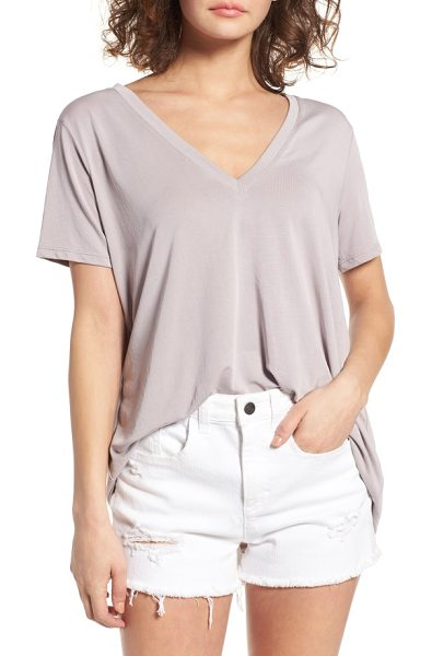 Lush v-neck tee in dusty rose - This swingy V-neck tee is knit in a supersoft modal...