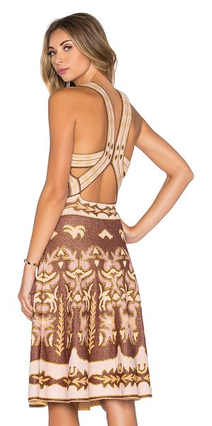 M Missoni Embroidered cut out midi dress in pink - 65% polyamide 24% cotton 8% poly 3% metallic fibers....