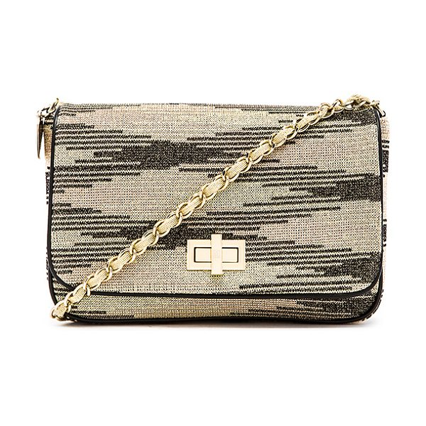M Missoni Lurex zig zag chain handbag in metallic gold