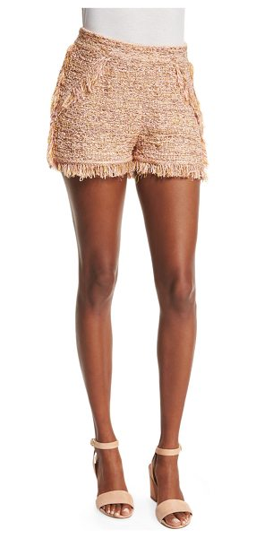M Missoni Metallic Crochet Shorts W/Fringe Trim in blush - M Missoni crochet shorts with fringe. Approx....
