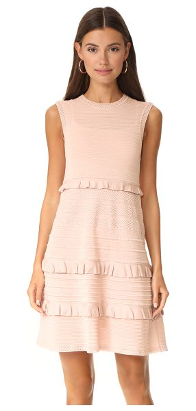 M Missoni ruffle sleeveless dress in blush - A charming M Missoni mini dress with a speckled metallic...