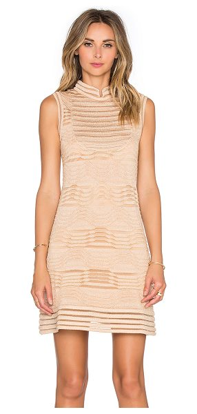 M Missoni Solid Lurex Mini Dress in peach - Shell: 90% polyamide 5% cotton 5% metallic...