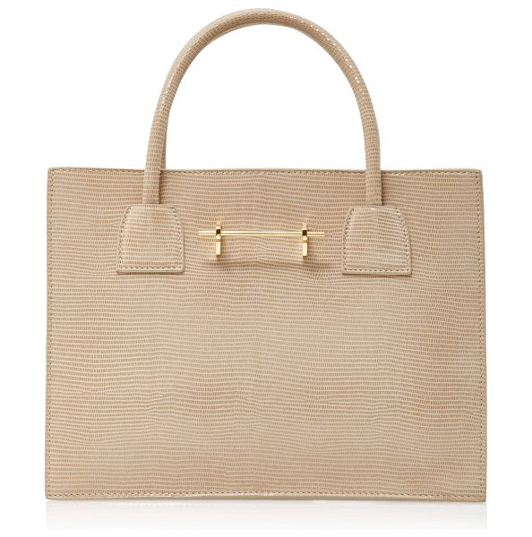 M2MALLETIER Embossed Mini Tote in neutral - This *M2Malletier* bag is rendered in embossed suede and...