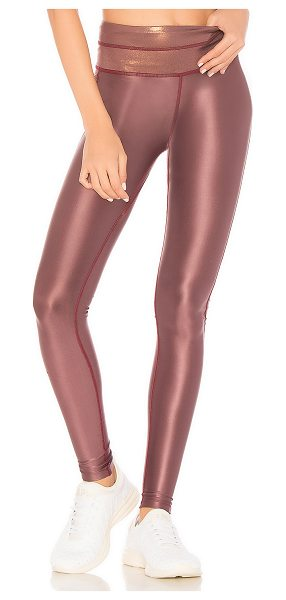 Maaji Dreamy Liquid Legging in pink - 77% poly 17% spandex 4% nylon 2% cotton. Hand wash cold....
