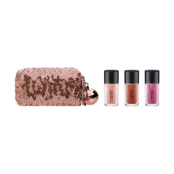 MAC mac snow ball pink pigment & glitter kit in pink