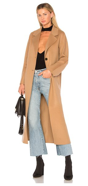 Mackage Adriana Coat in brown - 100% wool. Dry clean only. Front button closure. Side...