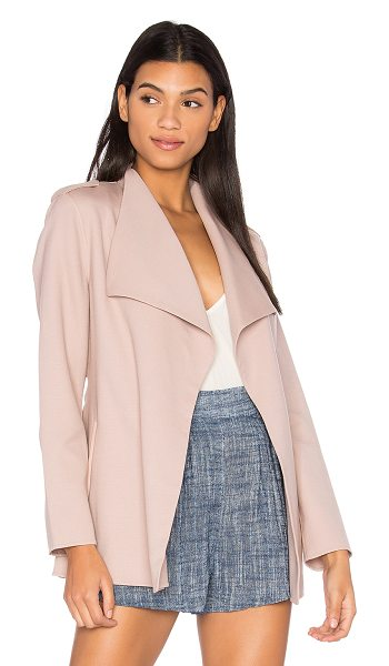 Mackage Brea Jacket in petal - Self: 96% wool 4% spandexTrim: Genuine leather....