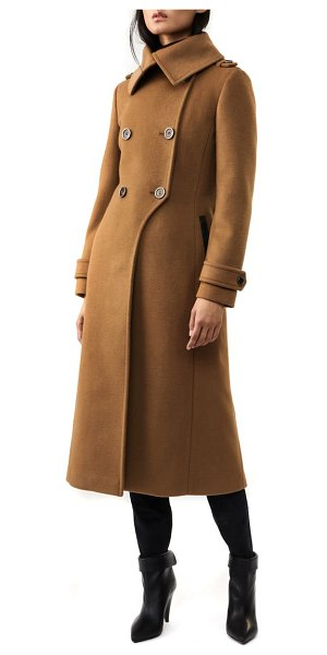 Mackage double breasted wool blend coat in brown