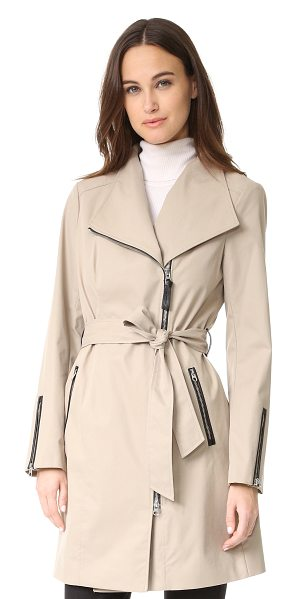 MACKAGE estela trench coat - A crisp, classic Mackage trench coat. Exposed,...