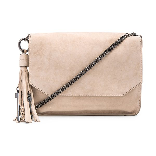 MACKAGE Imogen shoulder bag - Suede exterior and lining. Flap top with magnetic...