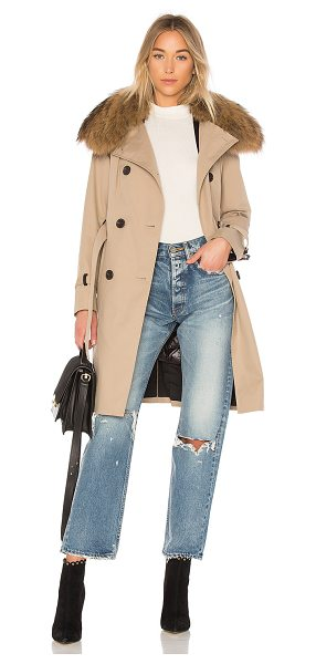 Mackage Karolina Trench in tan - Self: 60% cotton 40% polyLining: 100% polyRemovable...