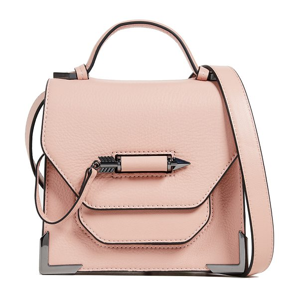 MACKAGE rubie cross body bag in peach - Leather: Cowhide Contrast piping Arrow-shaped post...