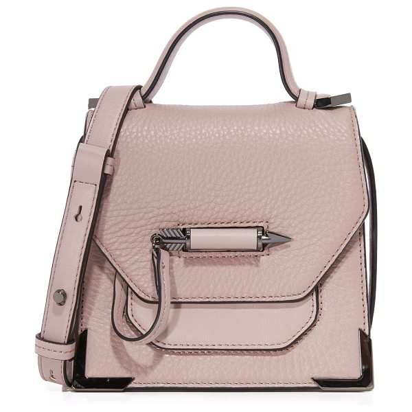 Mackage Mackage Rubie Cross Body Bag in blush - This sculptural Mackage bag is accented with polished...