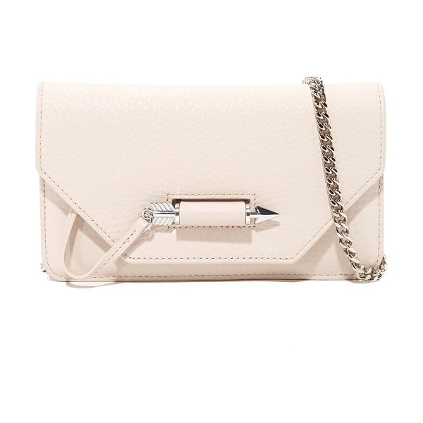 Mackage zoey mini cross body bag in shell - A petite Mackage cross-body bag rendered in soft pebbled...