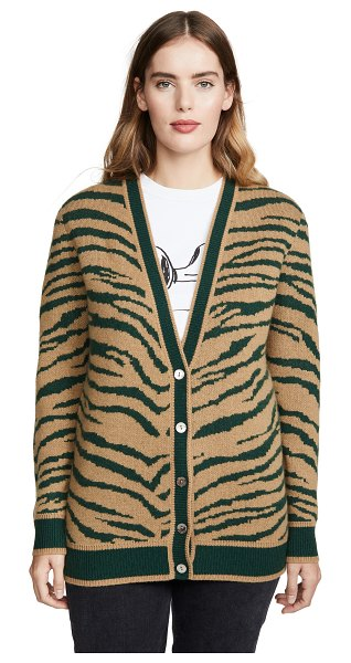 Madeleine Thompson wally sweater in camel/green